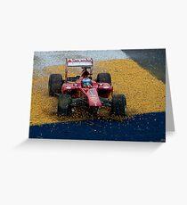 Alonso F1 Crash Greeting Card