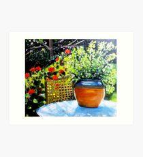 De mon jardin Art Print