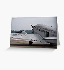 Junkers Ju 52 Greeting Card