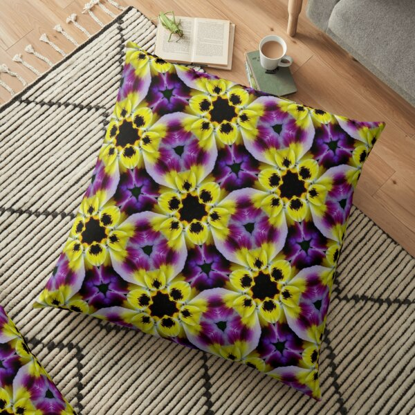 Purple Floral Photography  Pattern  Floor Pillow