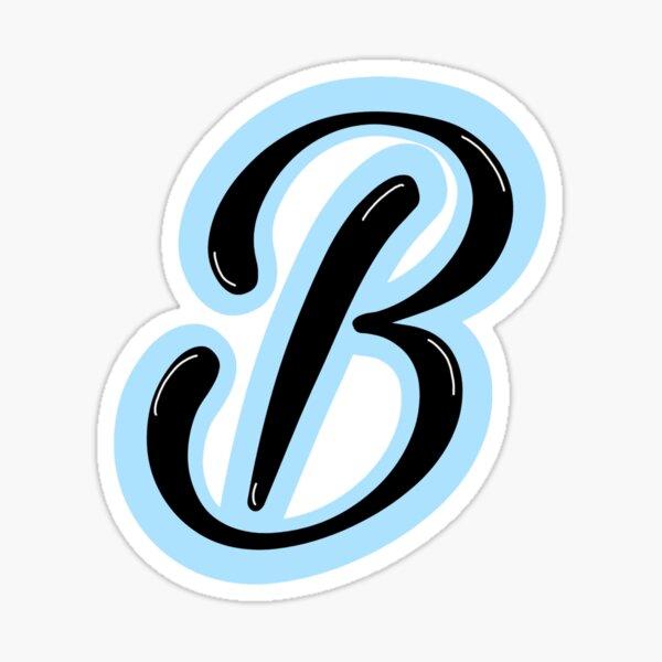Azul claro letra B Pegatina