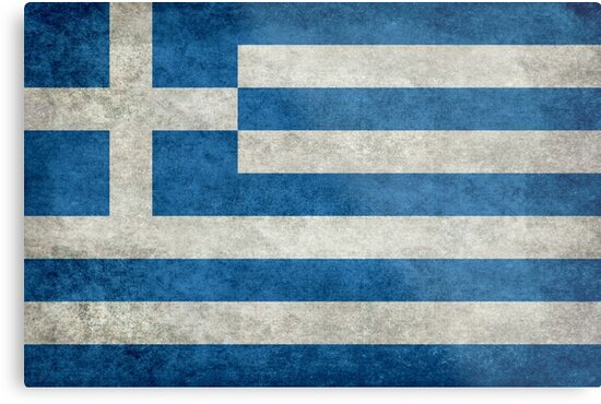 Flag of Greece - Retro vintage by Bruce Stanfield