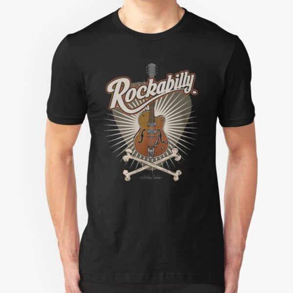 Guitarra Rockabilly Camiseta ajustada