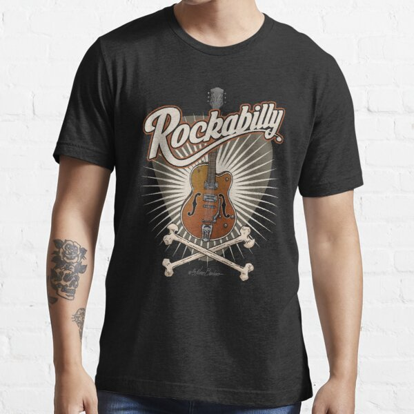 Guitarra Rockabilly Camiseta esencial