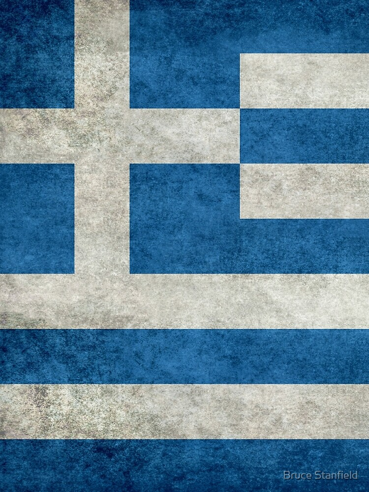 Flag of Greece - Retro vintage by Bruiserstang