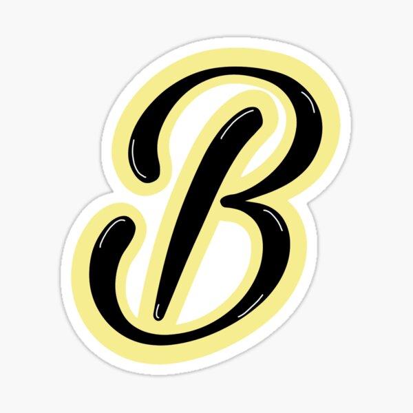 Amarillo claro letra B Pegatina