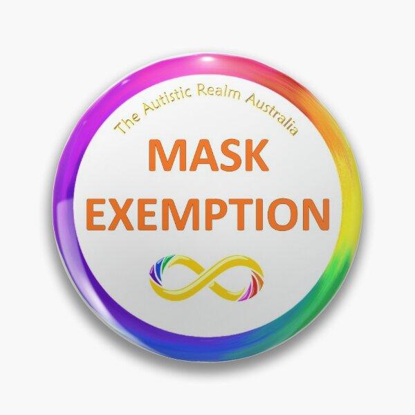 Mask Exemption Orange Pin