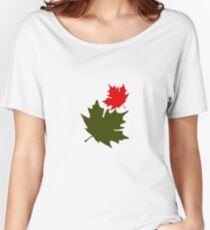 Falling Leaves Women's Relaxed Fit T-Shirt