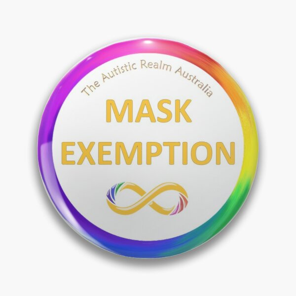 Mask Exemption Gold Pin