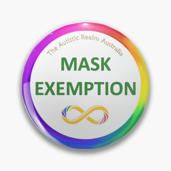 Mask Exemption green Pin