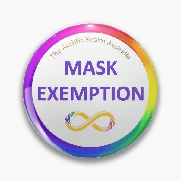 Mask Exemption Purple Pin