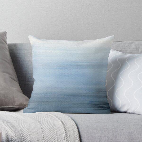 Seascape - Misty Blue Throw Pillow