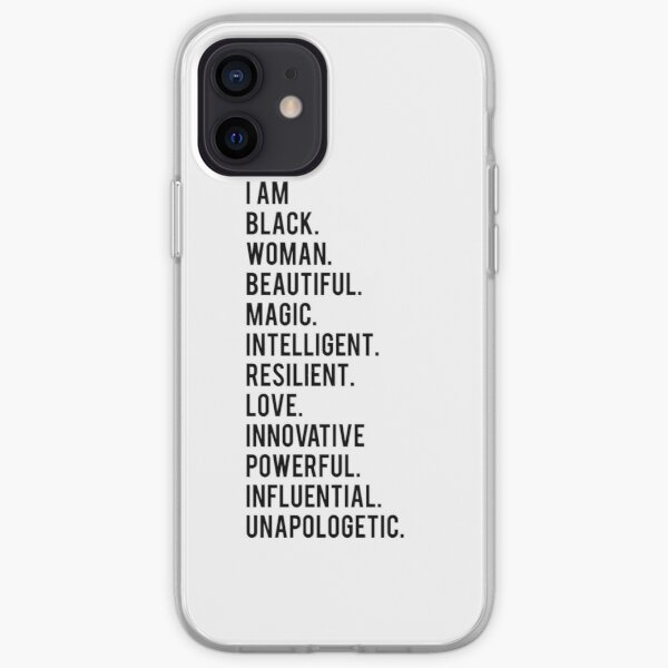 I Am Black Woman | African American | Black Lives iPhone Soft Case