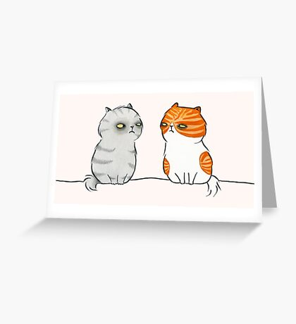 Kitty Cat Nemeses Greeting Card