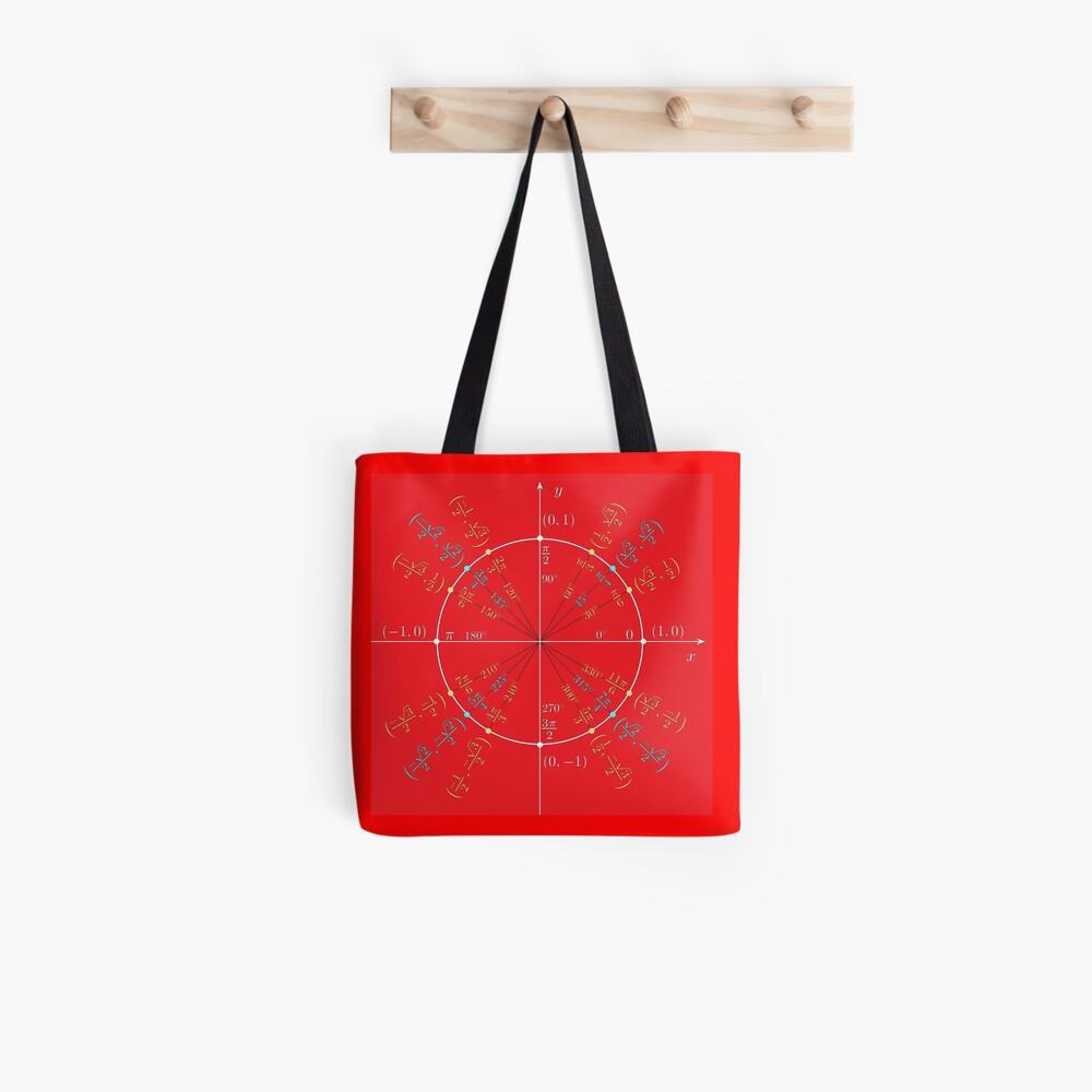 Unit circle angles. Trigonometry, Math Formulas, Geometry Formulas Tote Bag