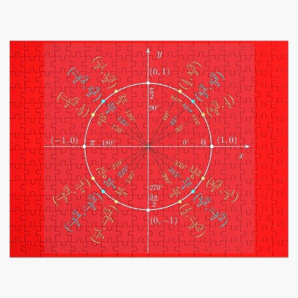 Unit circle angles. Trigonometry, Math Formulas, Geometry Formulas Jigsaw Puzzle