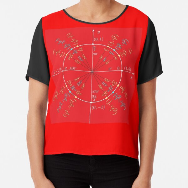 Unit circle angles. Trigonometry, Math Formulas, Geometry Formulas Chiffon Top