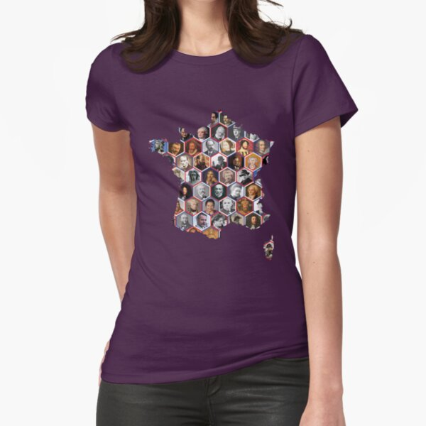 French hexagons Fitted T-Shirt