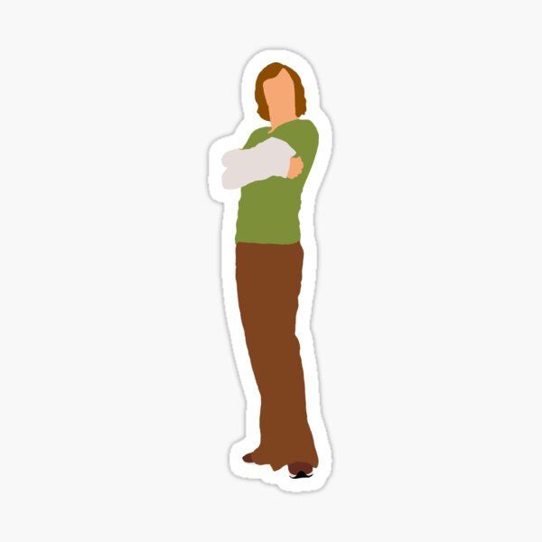 Minimalist Shaggy Rodgers Live Action  Sticker