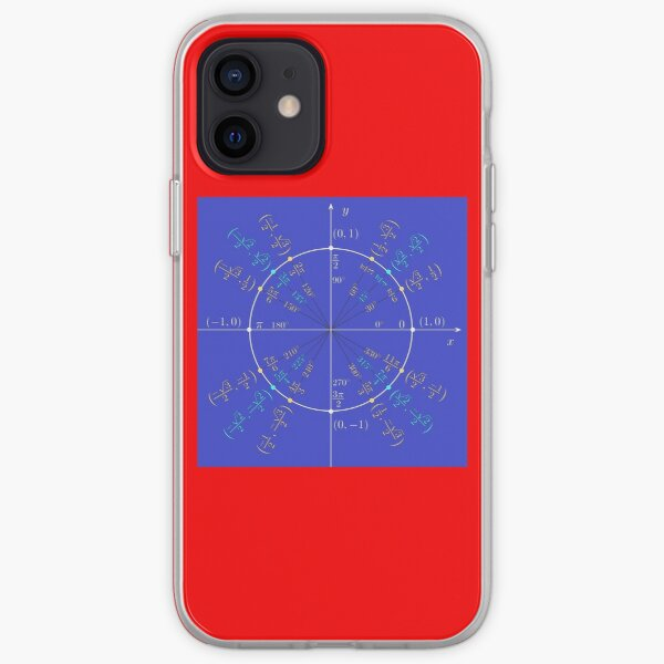 Unit circle angles. Trigonometry, Math Formulas, Geometry Formulas iPhone Soft Case