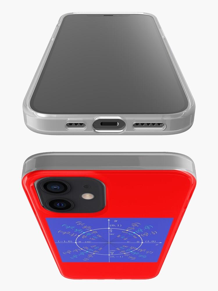 Alternate view of Unit circle angles. Trigonometry, Math Formulas, Geometry Formulas iPhone Case