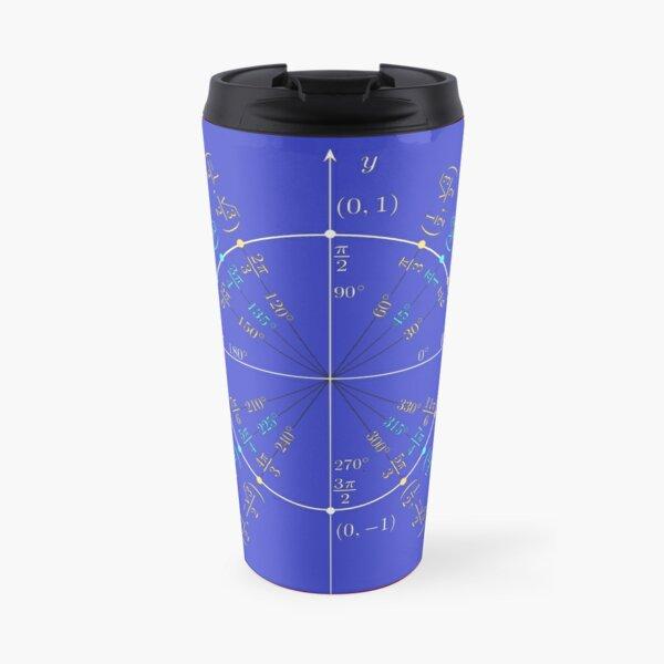 Unit circle angles. Trigonometry, Math Formulas, Geometry Formulas Travel Mug