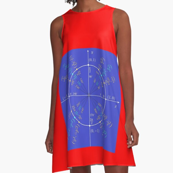Unit circle angles. Trigonometry, Math Formulas, Geometry Formulas A-Line Dress