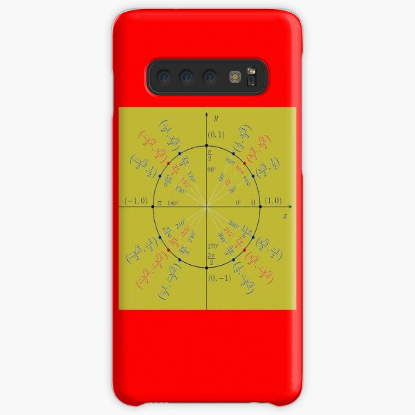 Unit circle angles. Trigonometry, Math Formulas, Geometry Formulas Samsung Galaxy Snap Case