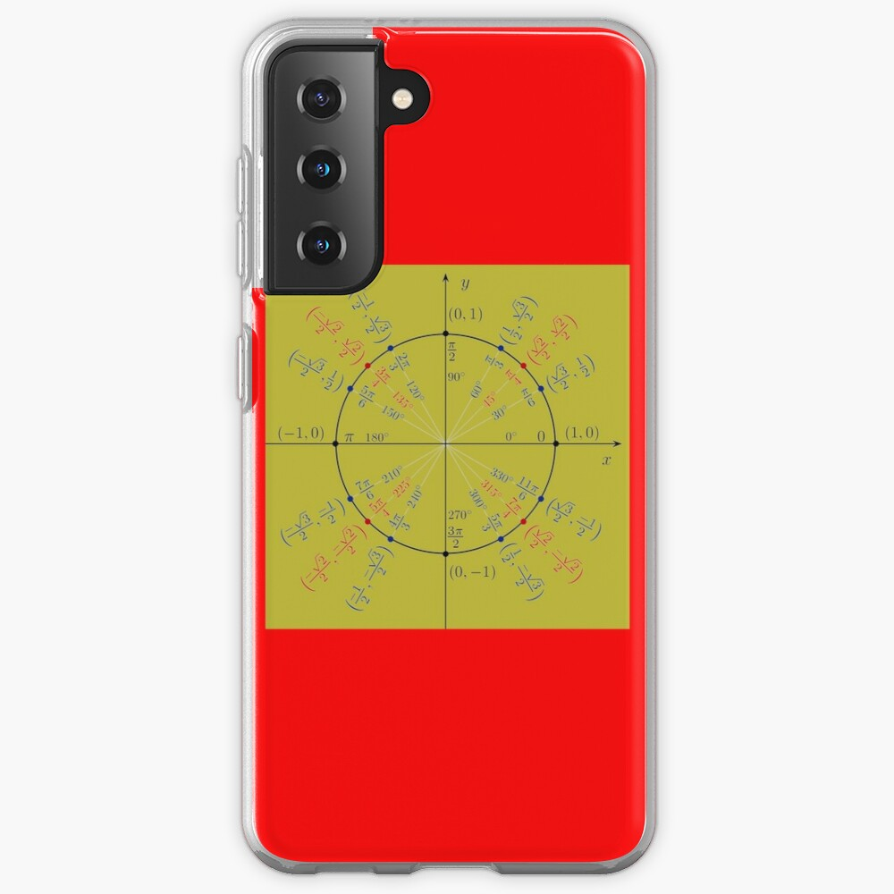 Unit circle angles. Trigonometry, Math Formulas, Geometry Formulas Samsung Galaxy Phone Case