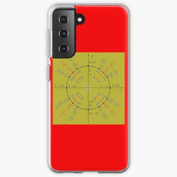 Unit circle angles. Trigonometry, Math Formulas, Geometry Formulas Samsung Galaxy Soft Case