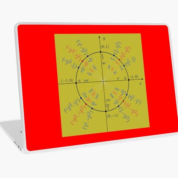 Unit circle angles. Trigonometry, Math Formulas, Geometry Formulas Laptop Skin