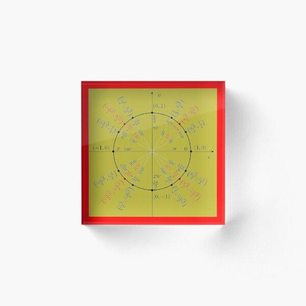 Unit circle angles. Trigonometry, Math Formulas, Geometry Formulas Acrylic Block