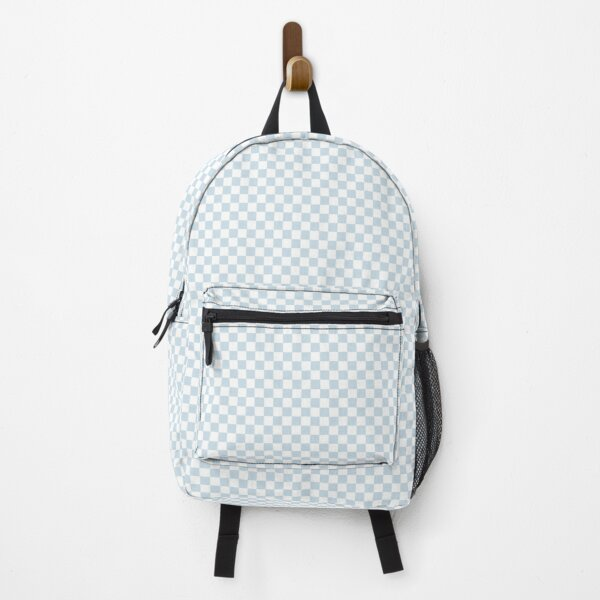Checkerboard Light Blue Backpack