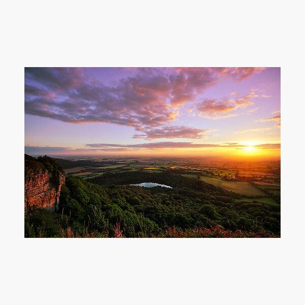 Sutton Bank sunset Photographic Print