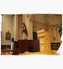 The Pulpit - St. Mary's Historical Church Poster
