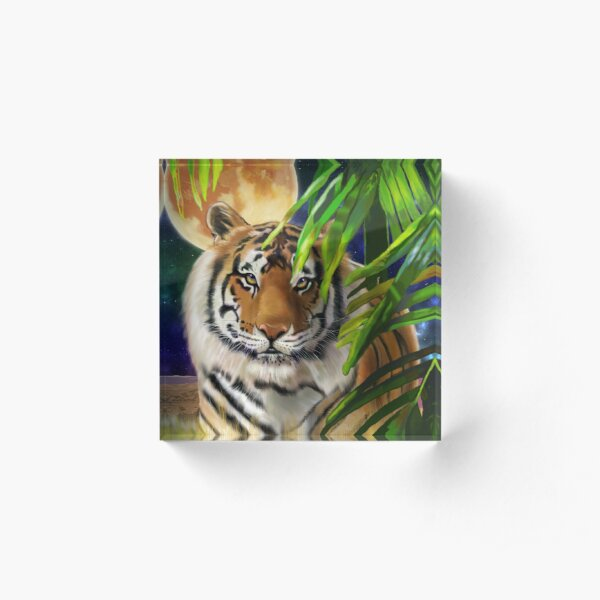 Big Cat Series #3 - Bengal Tiger Acrylic Block