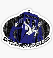 The Walkers have the Phonebox Sticker
