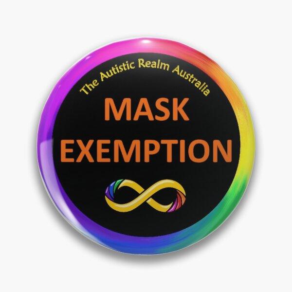 Mask Exemption Orange on Black Pin