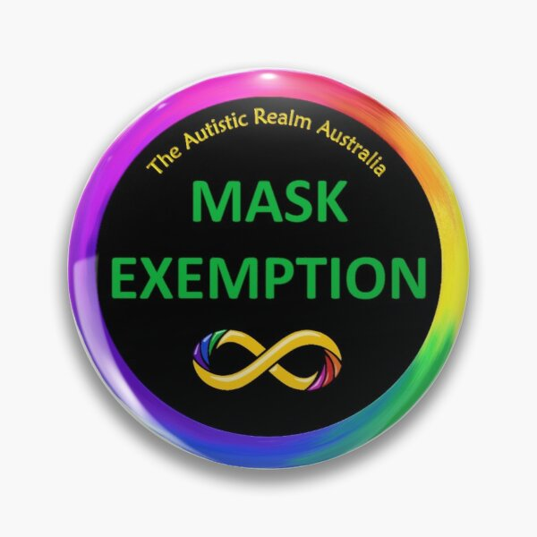 Mask Exemption Green on Black Pin