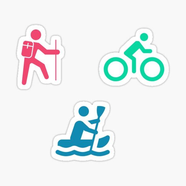 Outdoor Activities- Hike, Bike, Paddle Sticker