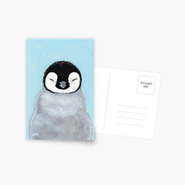 Cute Sleeping Baby Penguin Chick Postcard