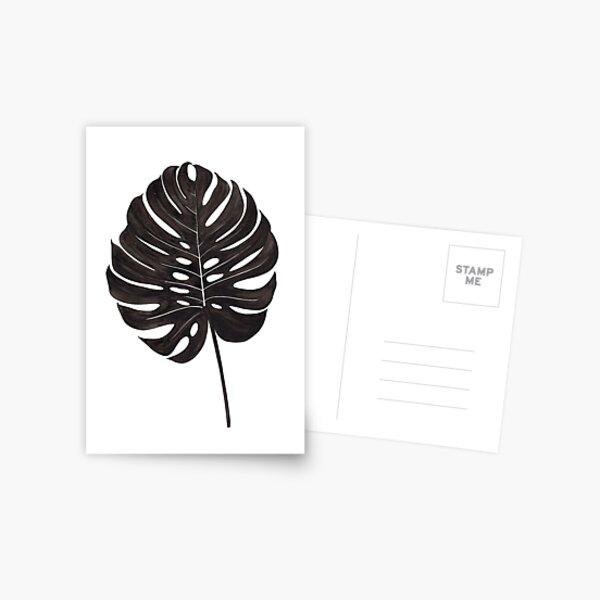 Monstera Leaf Postcard