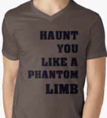Haunt You Like A Phantom Limb Black Text T-Shirt