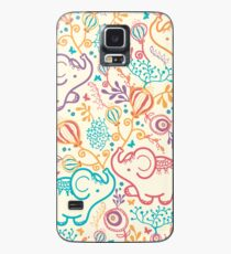 Elephants with bouquets pattern Case/Skin for Samsung Galaxy