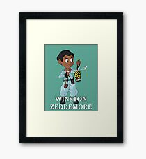 The Real Ghostbusters- Winston Framed Print