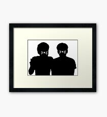 Dan & Phil |Shadows with whiskers Framed Print