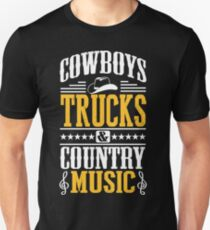 Cowboys, trucks & country music T-Shirt