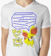 What Does Fennekin Say? Men's V-Neck T-Shirt