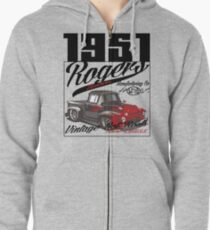 1951 car by rogers brothers Zipped Hoodie