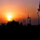 Xi'an Sunset Taken From The City Wall. China.  by Ralph de Zilva